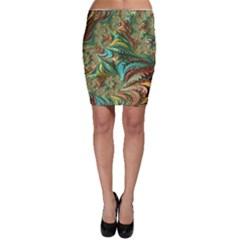 Fractal Artwork Pattern Digital Bodycon Skirt