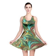 Fractal Artwork Pattern Digital Reversible Skater Dress