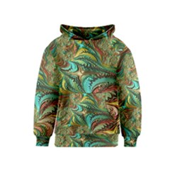 Fractal Artwork Pattern Digital Kids  Pullover Hoodie