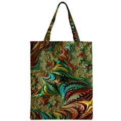 Fractal Artwork Pattern Digital Zipper Classic Tote Bag