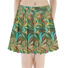 Fractal Artwork Pattern Digital Pleated Mini Skirt