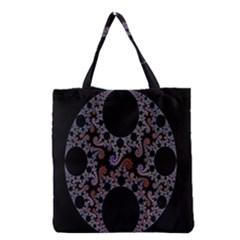 Fractal Complexity Geometric Grocery Tote Bag