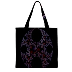 Fractal Complexity Geometric Zipper Grocery Tote Bag