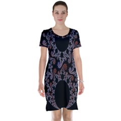 Fractal Complexity Geometric Short Sleeve Nightdress