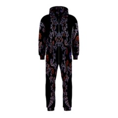 Fractal Complexity Geometric Hooded Jumpsuit (kids)