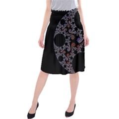 Fractal Complexity Geometric Midi Beach Skirt