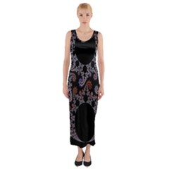 Fractal Complexity Geometric Fitted Maxi Dress