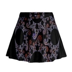 Fractal Complexity Geometric Mini Flare Skirt