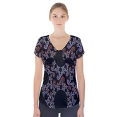 Fractal Complexity Geometric Short Sleeve Front Detail Top