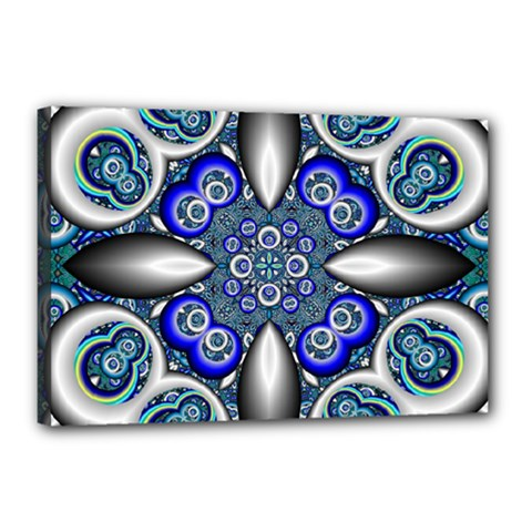 Fractal Cathedral Pattern Mosaic Canvas 18  x 12