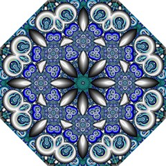 Fractal Cathedral Pattern Mosaic Straight Umbrellas