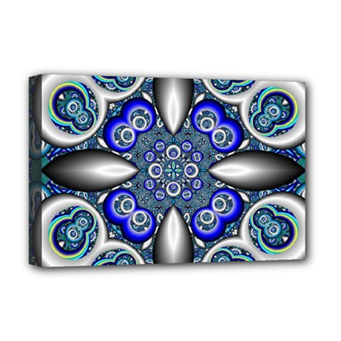 Fractal Cathedral Pattern Mosaic Deluxe Canvas 18  x 12