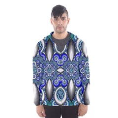 Fractal Cathedral Pattern Mosaic Hooded Wind Breaker (Men)