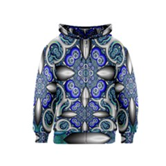 Fractal Cathedral Pattern Mosaic Kids  Zipper Hoodie