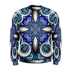 Fractal Cathedral Pattern Mosaic Men s Sweatshirt