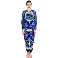 Fractal Cathedral Pattern Mosaic OnePiece Jumpsuit (Ladies)