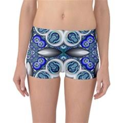 Fractal Cathedral Pattern Mosaic Reversible Bikini Bottoms