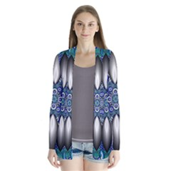 Fractal Cathedral Pattern Mosaic Cardigans