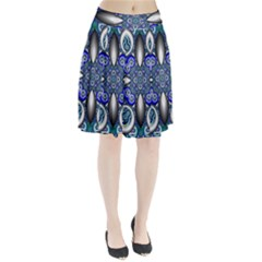 Fractal Cathedral Pattern Mosaic Pleated Skirt
