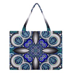 Fractal Cathedral Pattern Mosaic Medium Tote Bag