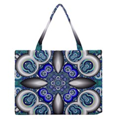Fractal Cathedral Pattern Mosaic Medium Zipper Tote Bag