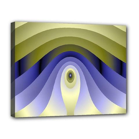 Fractal Eye Fantasy Digital Canvas 14  x 11