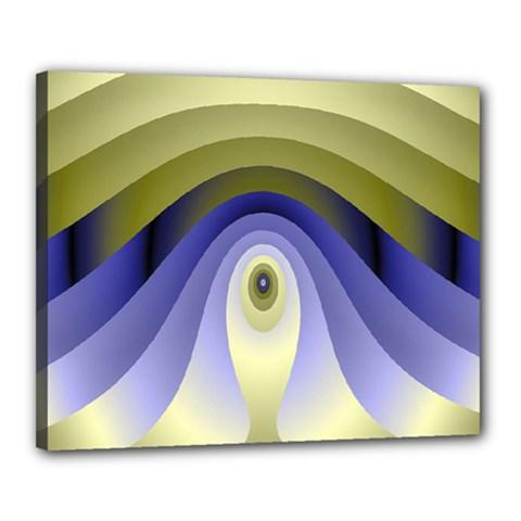 Fractal Eye Fantasy Digital Canvas 20  x 16