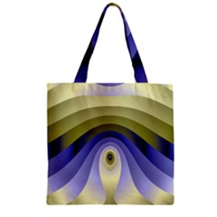 Fractal Eye Fantasy Digital Zipper Grocery Tote Bag