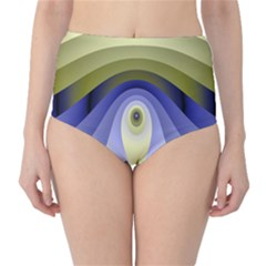 Fractal Eye Fantasy Digital High Waist Bikini Bottoms