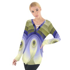 Fractal Eye Fantasy Digital Women s Tie Up Tee