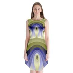 Fractal Eye Fantasy Digital Sleeveless Chiffon Dress