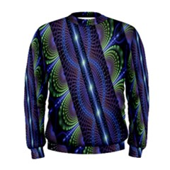Fractal Blue Lines Colorful Men s Sweatshirt