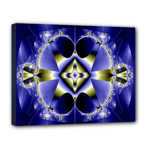 Fractal Fantasy Blue Beauty Canvas 14  x 11