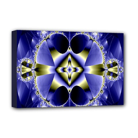 Fractal Fantasy Blue Beauty Deluxe Canvas 18  X 12