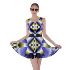 Fractal Fantasy Blue Beauty Skater Dress