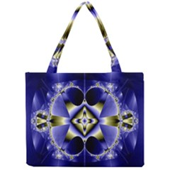 Fractal Fantasy Blue Beauty Mini Tote Bag