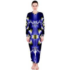 Fractal Fantasy Blue Beauty OnePiece Jumpsuit (Ladies)