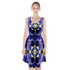 Fractal Fantasy Blue Beauty Racerback Midi Dress