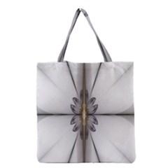Fractal Fleur Elegance Flower Grocery Tote Bag
