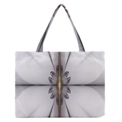 Fractal Fleur Elegance Flower Medium Zipper Tote Bag