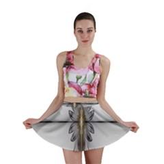 Fractal Fleur Elegance Flower Mini Skirt