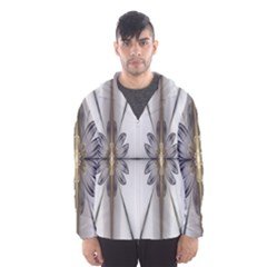 Fractal Fleur Elegance Flower Hooded Wind Breaker (Men)