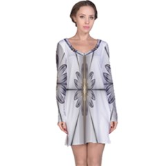 Fractal Fleur Elegance Flower Long Sleeve Nightdress