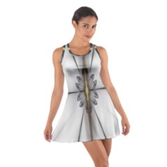 Fractal Fleur Elegance Flower Cotton Racerback Dress