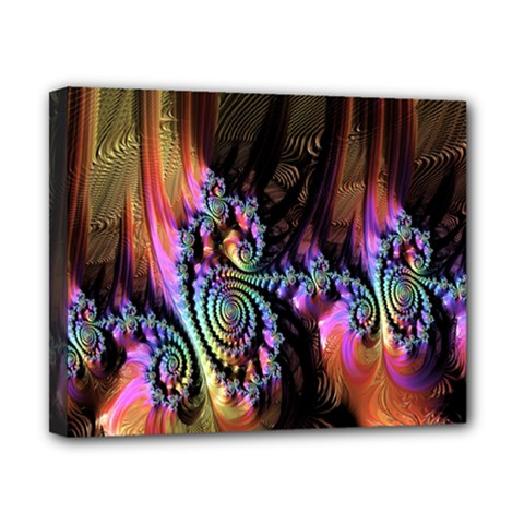 Fractal Colorful Background Canvas 10  x 8