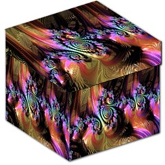 Fractal Colorful Background Storage Stool 12
