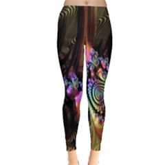 Fractal Colorful Background Leggings
