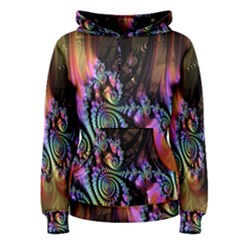 Fractal Colorful Background Women s Pullover Hoodie