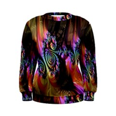 Fractal Colorful Background Women s Sweatshirt