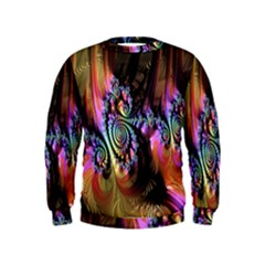Fractal Colorful Background Kids  Sweatshirt
